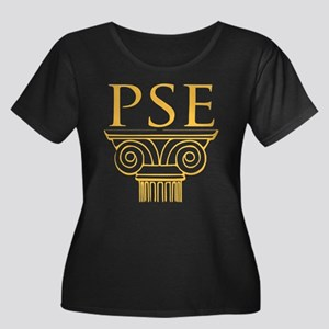 Pi Sigma Women's Plus Size Scoop Neck Dark T-Shirt